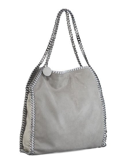 Falabella Small Tote, Light Grey