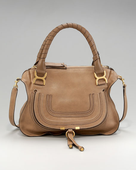 Marcie Calfskin Satchel, Medium