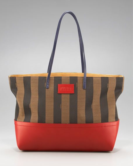 Striped Roll Tote, Red