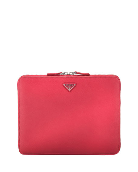 Saffiano Travel Computer Case, Pink (Peonia)