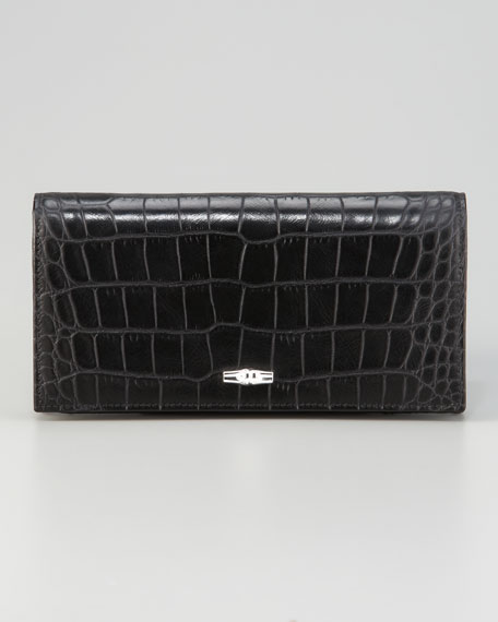 Roseau Embossed Croc Wallet