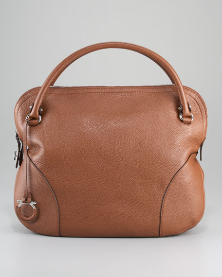 Bonaria Lock-Zip Satchel Bag