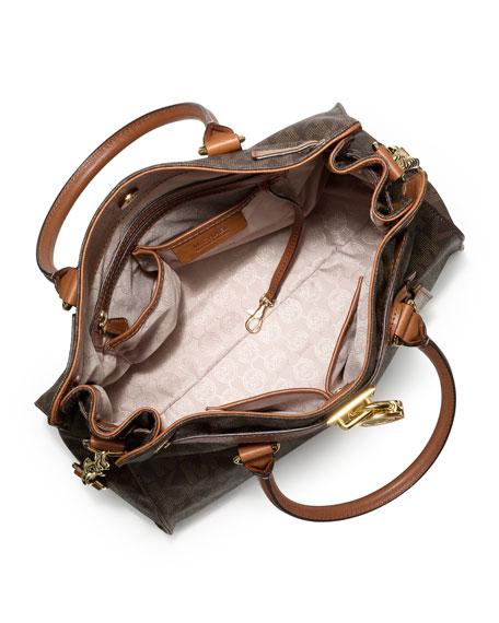 Hamilton Large MK Logo Tote Bag, Brown