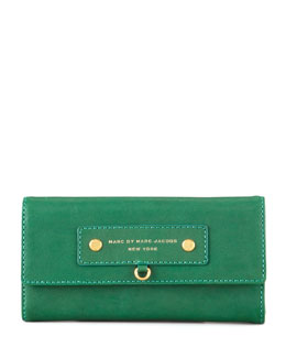 MARC by Marc Jacobs Preppy Lthr Cont Wallet