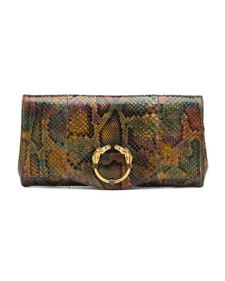 Ribot Python Clutch Bag
