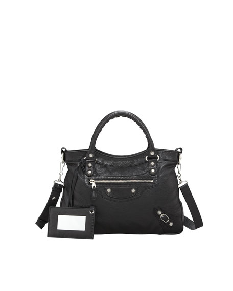 Balenciaga Giant 12 Nickel Town Bag, Black