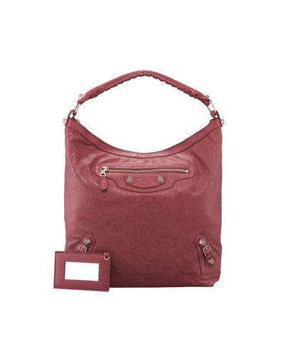 Giant 12 Rose Golden Day Bag, Cassis/Bordeaux