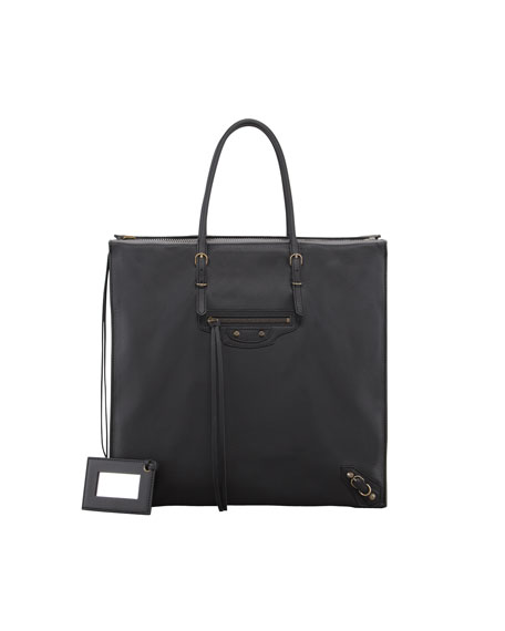 Papier Neo Zip Tote Bag, Black
