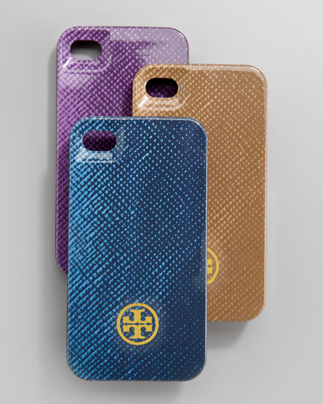 Saffiano-Print Hard iPhone 4 Case