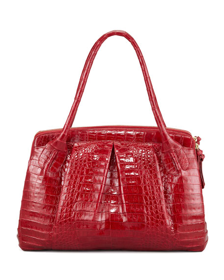 Crocodile Satchel Bag
