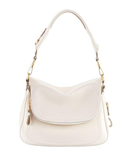 Tom Ford Jennifer Leather Shoulder Bag, Ivory