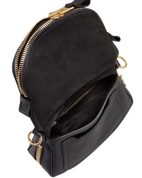 Tom Ford Jennifer Small Leather Crossbody Bag, Black
