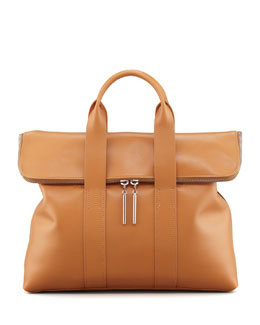 3.1 Phillip Lim 31-Hour Fold-Over Tote Bag, Camel