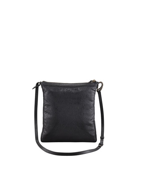 Classic Flat Crossbody Bag, Black