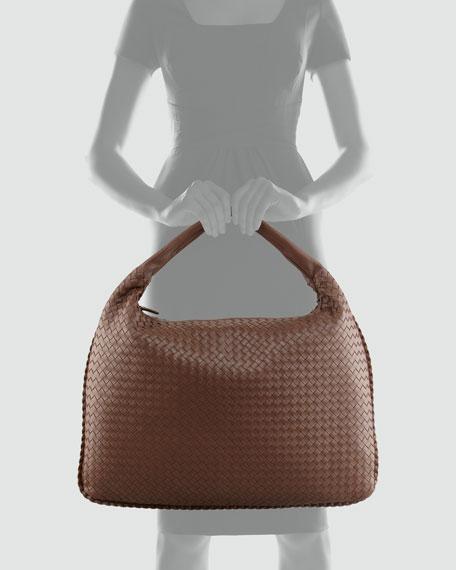 Veneta Maxi Woven Hobo Bag, Brown