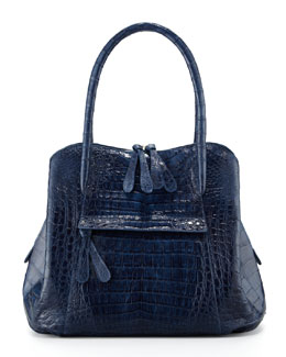 Nancy Gonzalez Crocodile Tote Bag, Blue