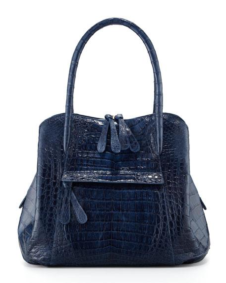 Crocodile Tote Bag, Blue