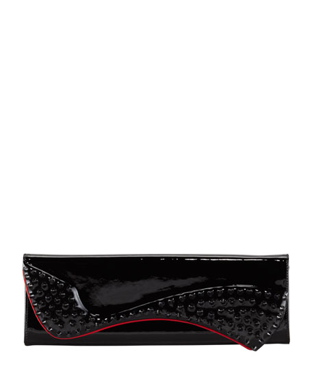 Pigalle Spiked Clutch Bag, Black