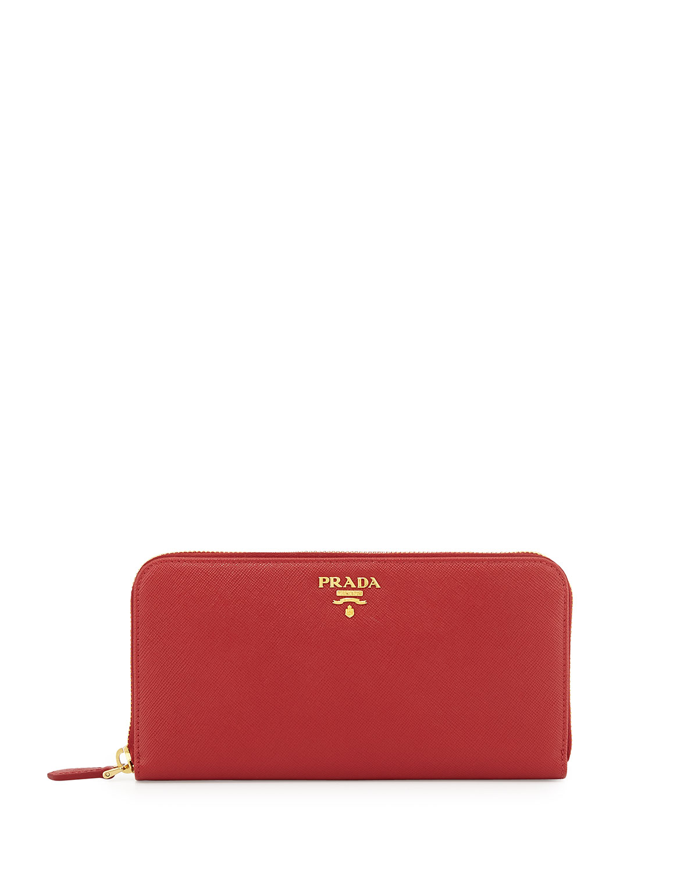 f24f024e818 Prada Saffiano Zip-Around Wallet