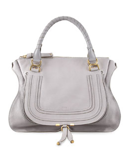 Chloe Marcie Large Shoulder Bag, Cashmere Gray