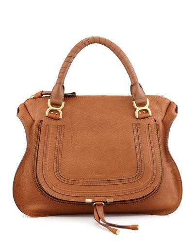 Marcie Large Shoulder Bag, Tan