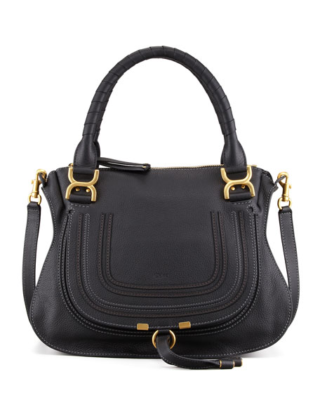 Chloe Marcie Medium Satchel Bag, Black