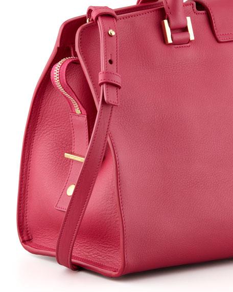 Y Ligne Cuir Gras Mini Bag, Fuchsia