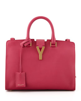 Saint Laurent Y Ligne Cuir Gras Mini Bag, Fuchsia