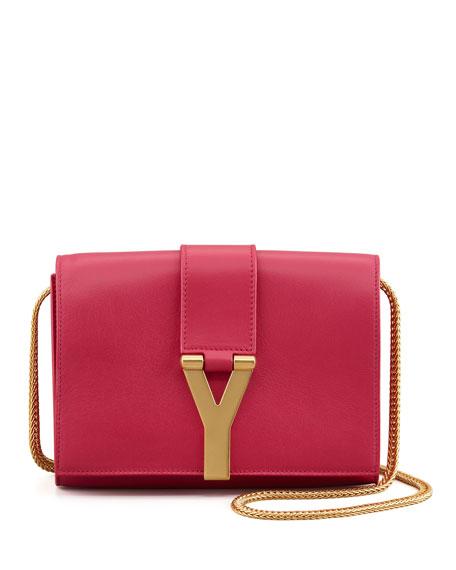 Y Ligne Mini Pochette Crossbody Bag, Fuchsia