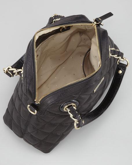 gold coast georgina satchel, black