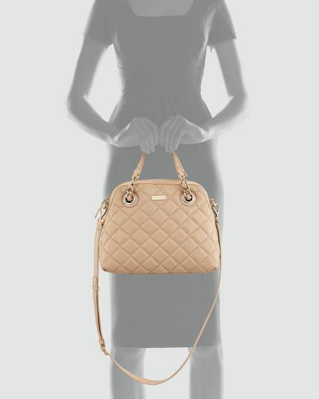 gold coast georgina satchel, cream