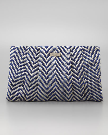 bungalow breeze straw april clutch bag