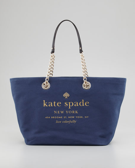 east broadway small coal logo tote, navy