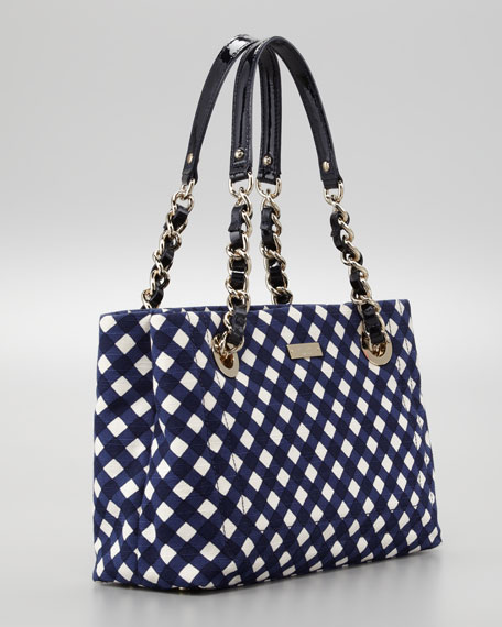 bay terrace helena small tote bag, french navy