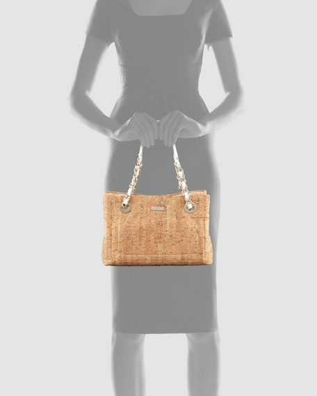 bay terrace helena small tote bag, cork