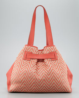 Kooba Addison Chevron Tote Bag, Orange