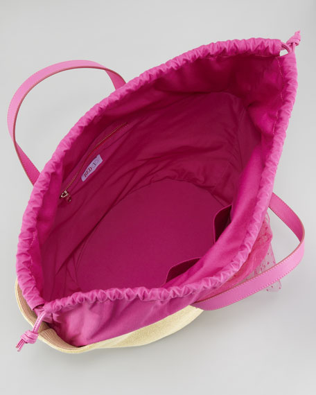 b3d734f3920 RED Valentino Point d'Esprit Straw Tote Bag