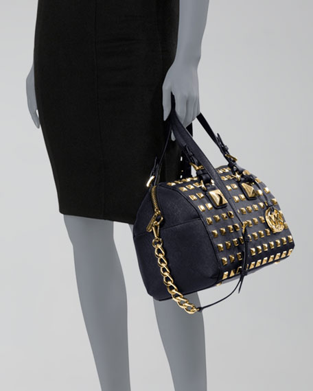Medium Grayson Studded Satchel