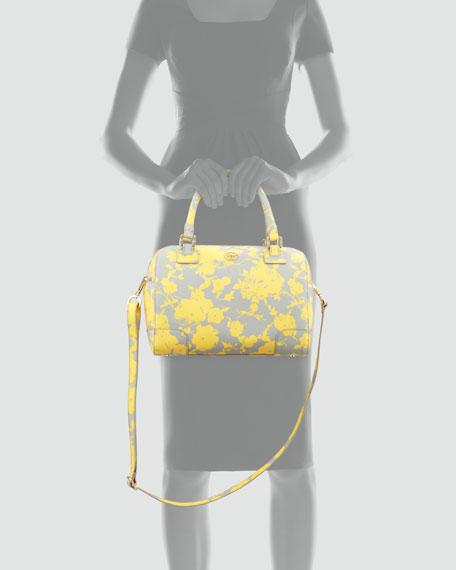 Robinson Middy Satchel Bag, Yellow/Gray