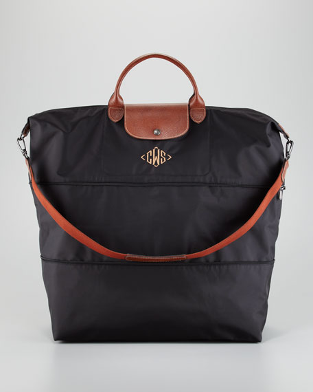 Le Pliage Monogrammed Expandable Travel Bag