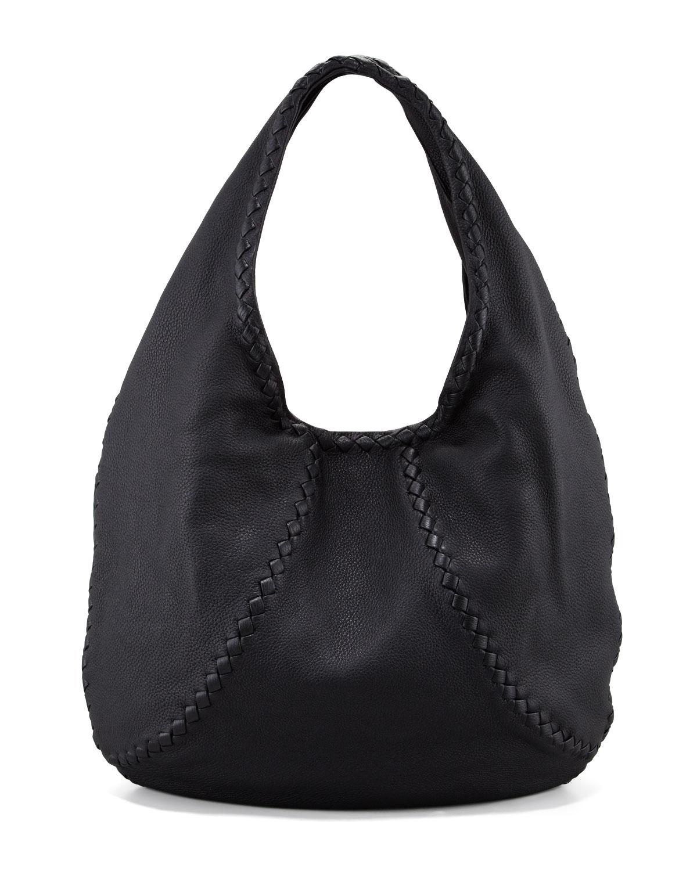 Cervo Large Hobo Bag Black