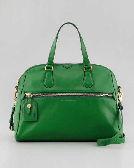 Globetrotter Calamity Rei Satchel Bag, Green