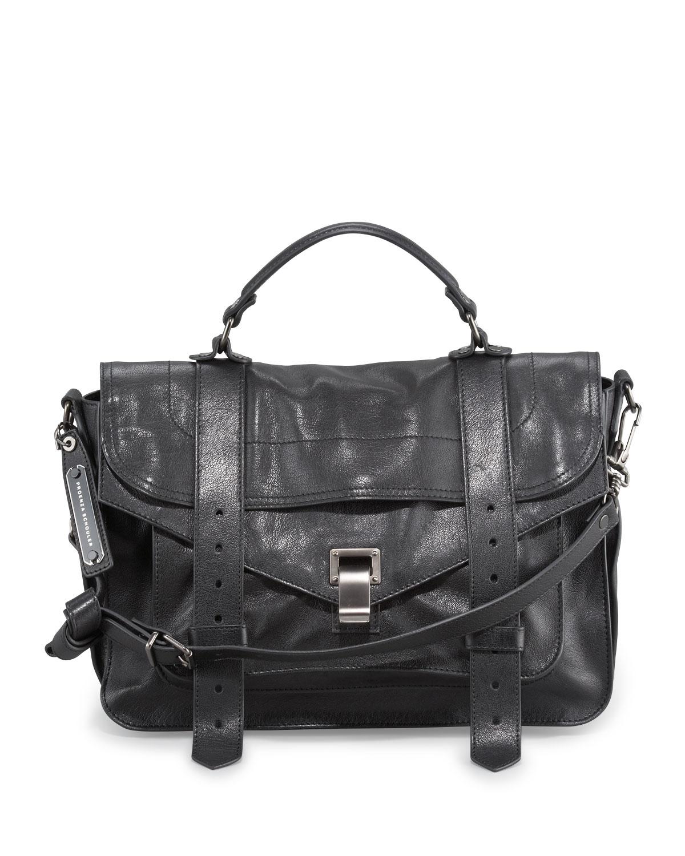 Ps1 Medium Satchel Bag Black