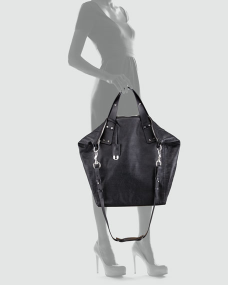 Stepney Leather Tote Bag, Black
