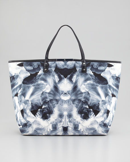 Iris Large Printed Tote Bag