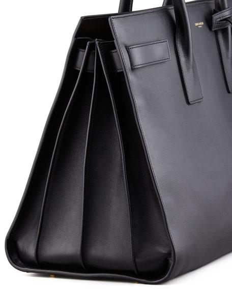 Classic Sac De Jour Leather Satchel Bag Black