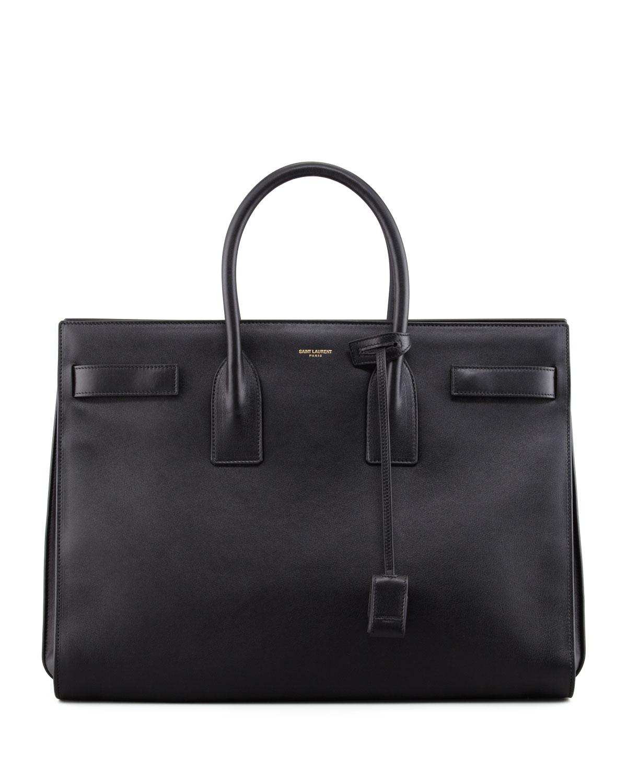 Saint Laurent Classic Sac De Jour Leather Satchel Bag 1bf4b6877546c