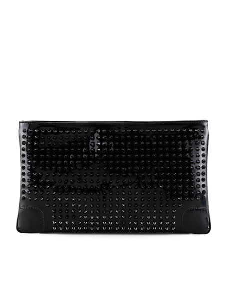 Loubiposh Studded Clutch Bag