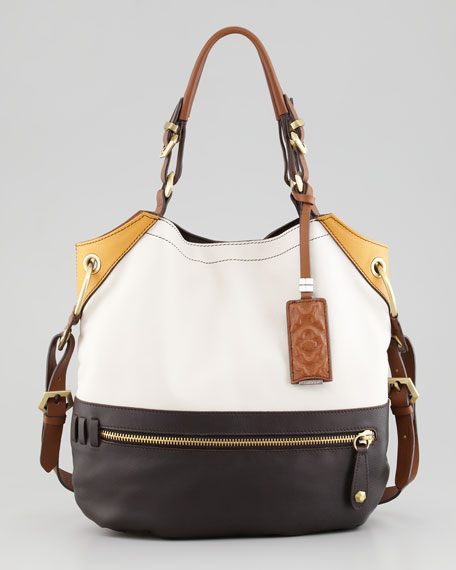 Sydney Colorblock Tote Bag, Oyster Multi