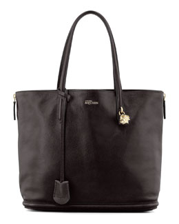 Alexander McQueen New Padlock Shopper Bag, Black